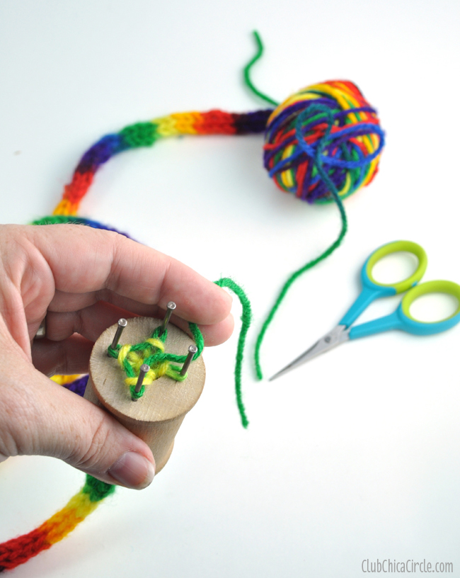 Spool Knitting Fun Craft Idea