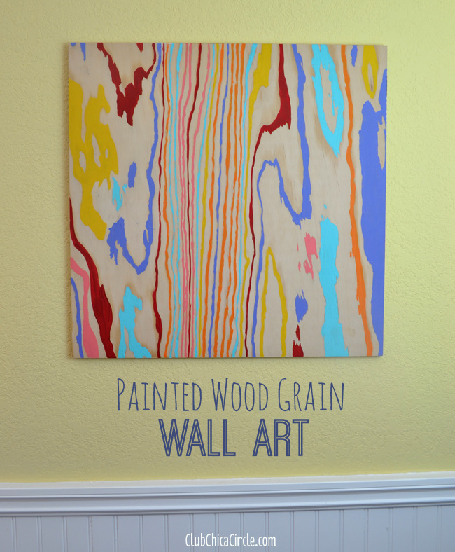 Wood Grain Colorful Wall Art DIY