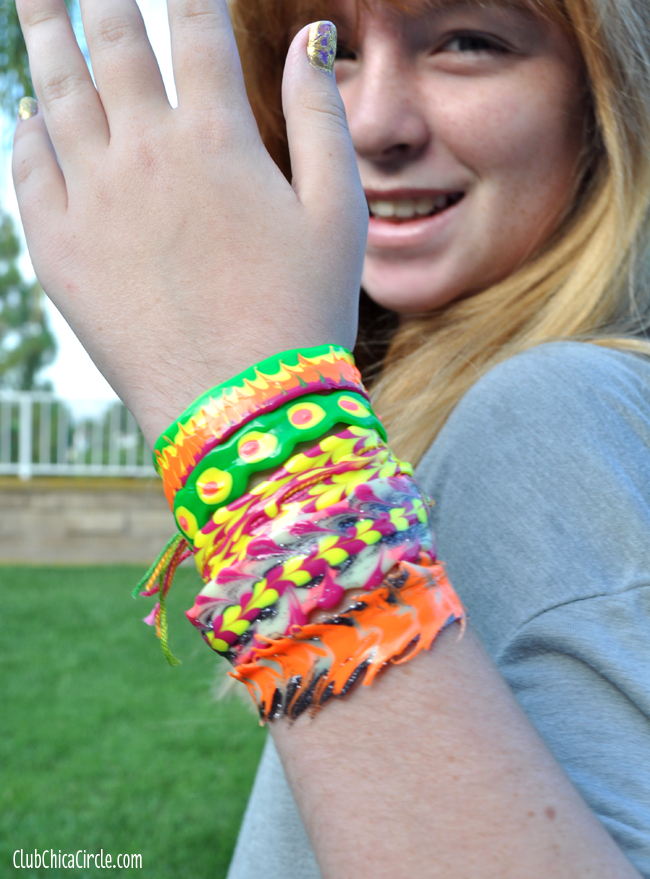 puffy paint bracelets tutorial