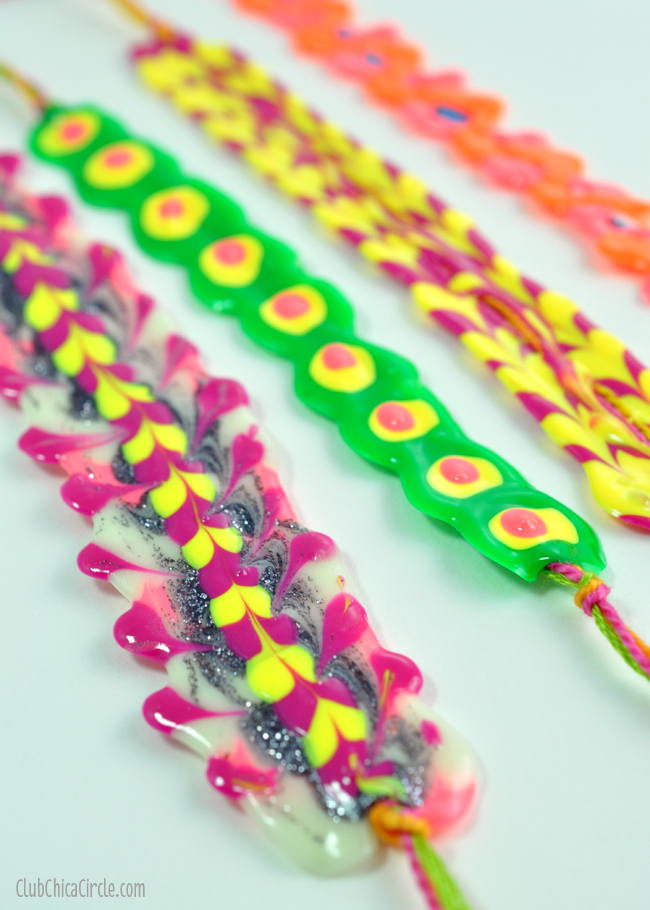 puffy paint friendship bracelet easy craft idea