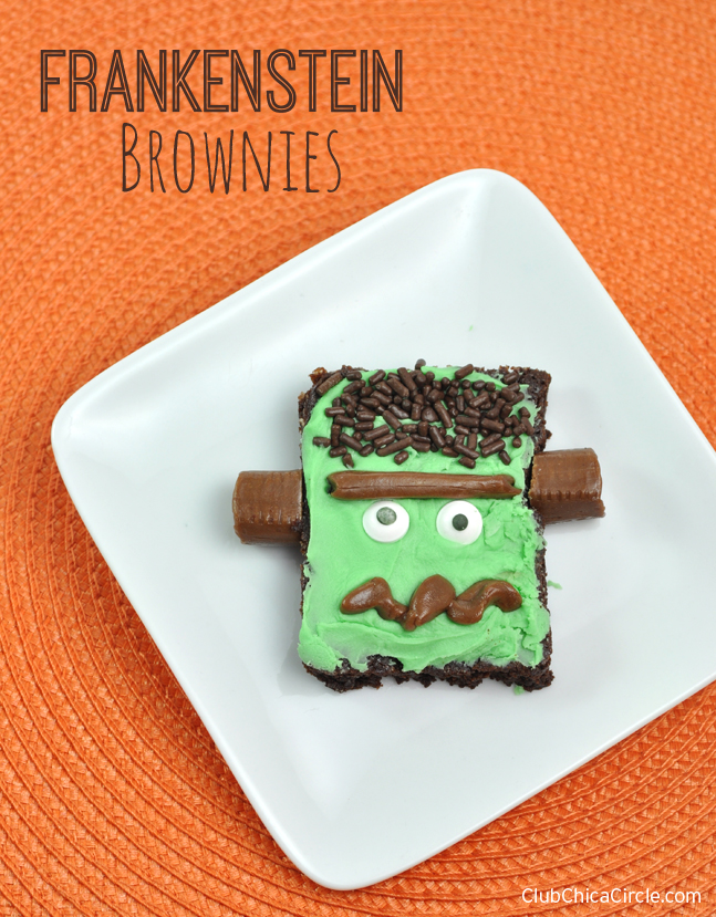 Frankenstein Brownies Easy Halloween Treat