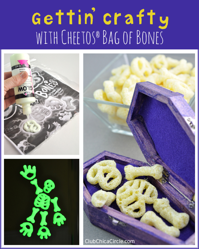 Getting crafting with Cheetos Bag of Bones for Halloween
