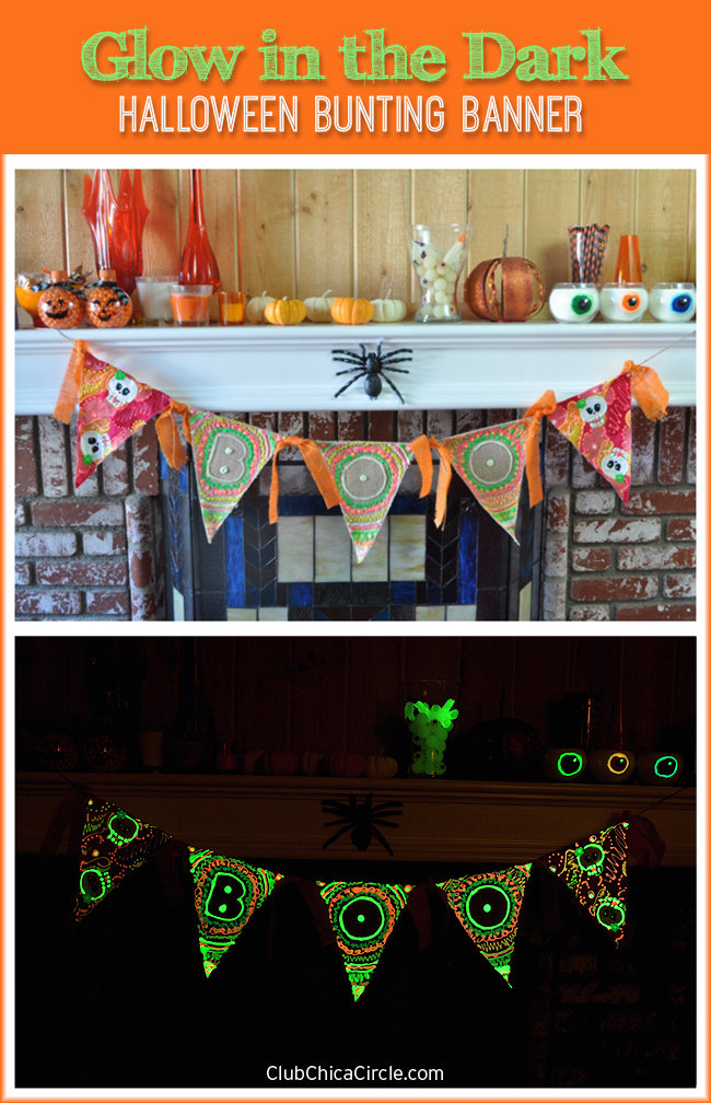Glow in the Dark Halloween Bunting Banner Craft DIY