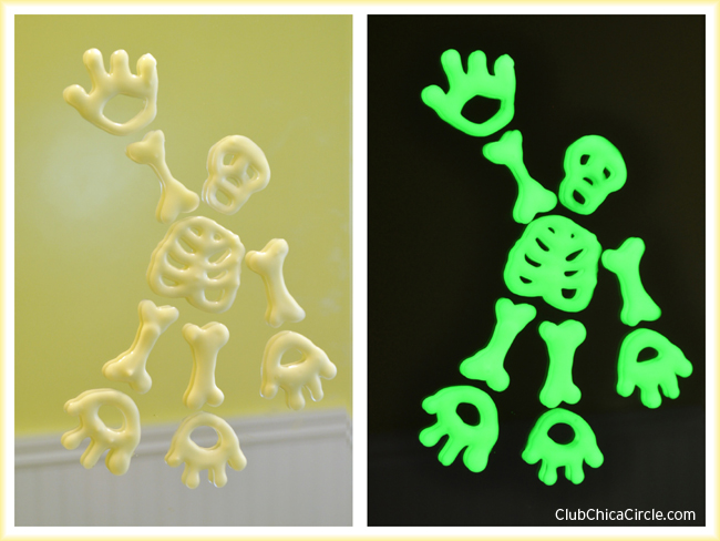Glow in the dark mirror clings craft idea