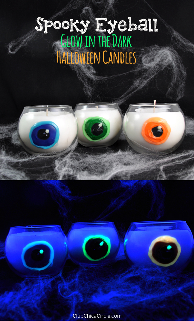 Homemade Spooky Eyeball Candles for Halloween Party