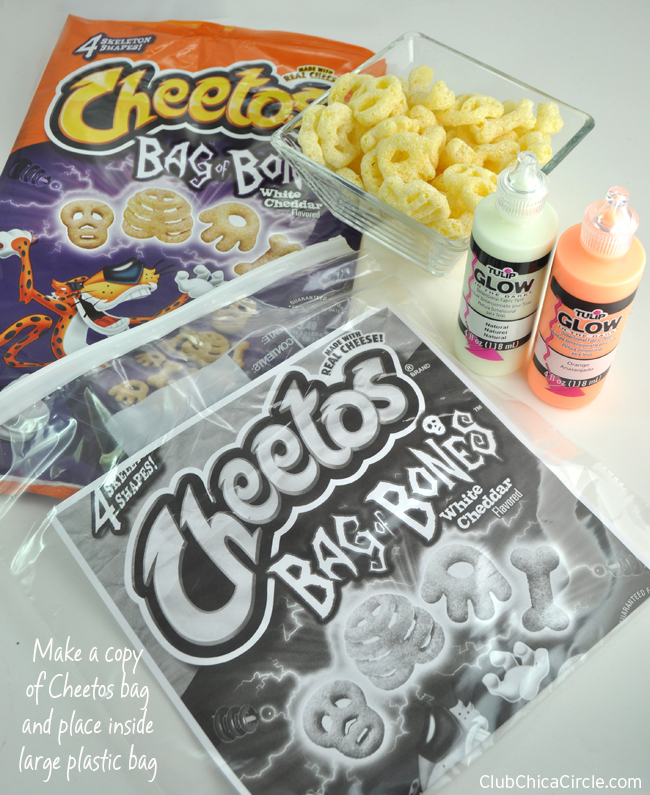 How to Make Cheetos Bag of Bones Glow in the Dark Window Clings