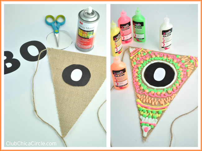 How to make a glow in the dark Halloween Banner