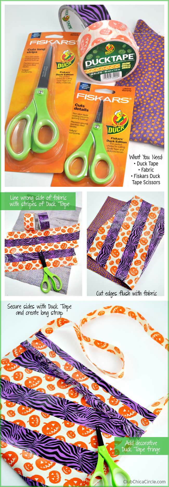How to make a quick 5 minute Duck Tape bag or purse