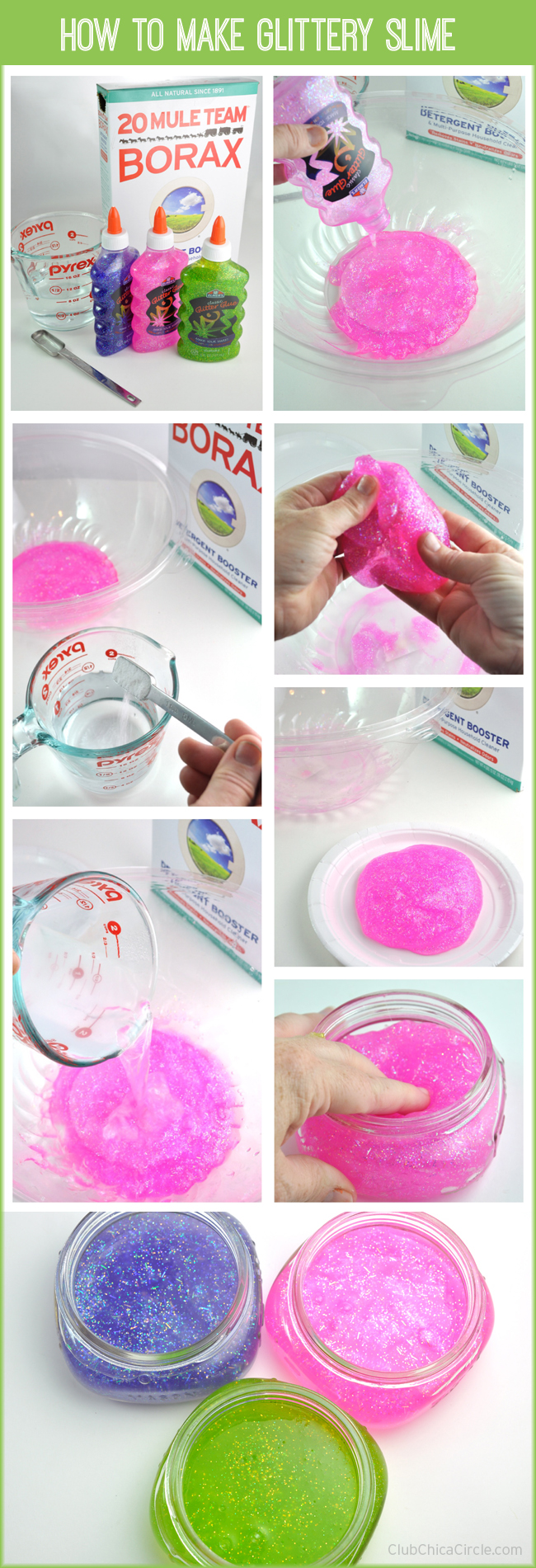 Eyeball mason jars with homemade glittery slime how to make easy homemade glittery slime for kids ccuart Image collections