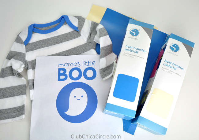 Silhouette Heat Transfer Baby Onesie Craft Idea