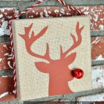 Easy Rudolph Wall Art Craft Idea