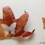 Fall leaves-butterfly-cutout craft idea