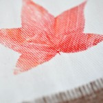 Leaf Printing on Fabric Fall Craft Idea