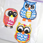 Owl Homemade Puffy Paint Window Decorations