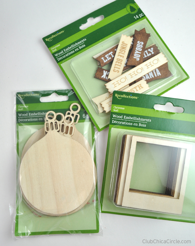 Michaels Christmas Craft Ideas Part - 36: Wood Ornaments From Michaels Recollections #MichaelsChristmas Copy