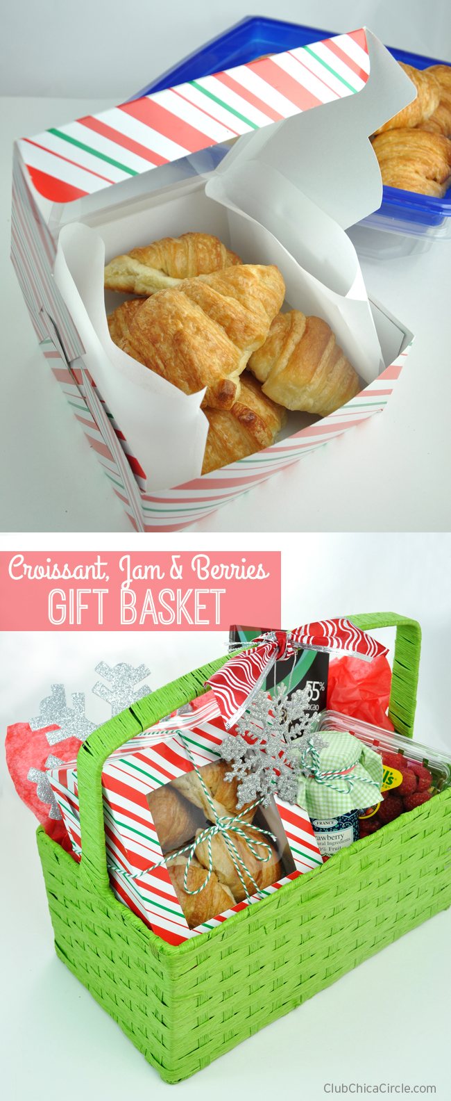 Croissant, Jam & Berries Holiday Gift Basket Idea
