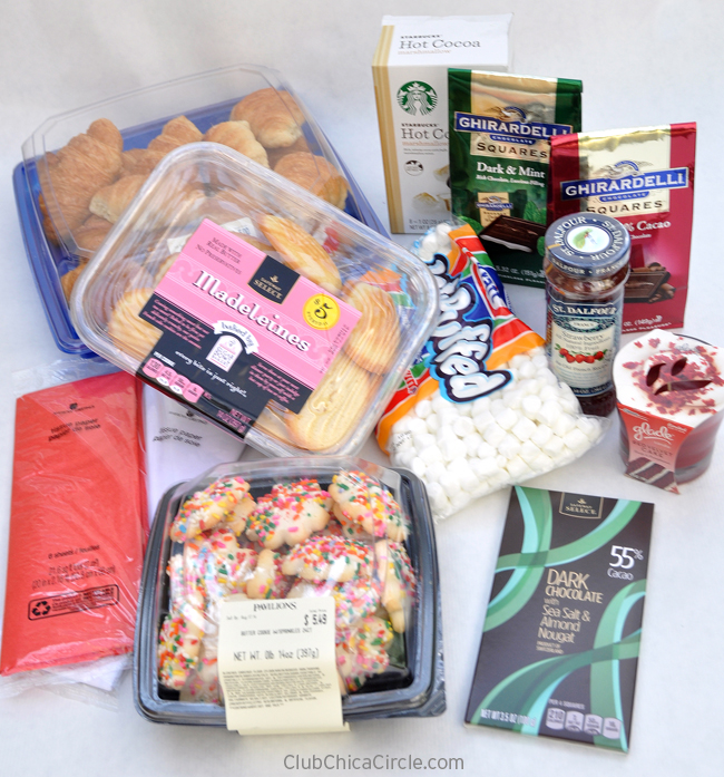 #GiveBakery Grocery shop items for Easy Gift Baskets