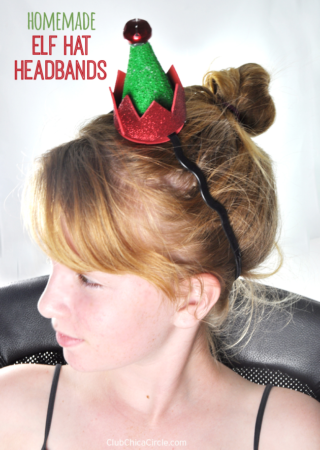 Homemade Elf Hat Headband craft