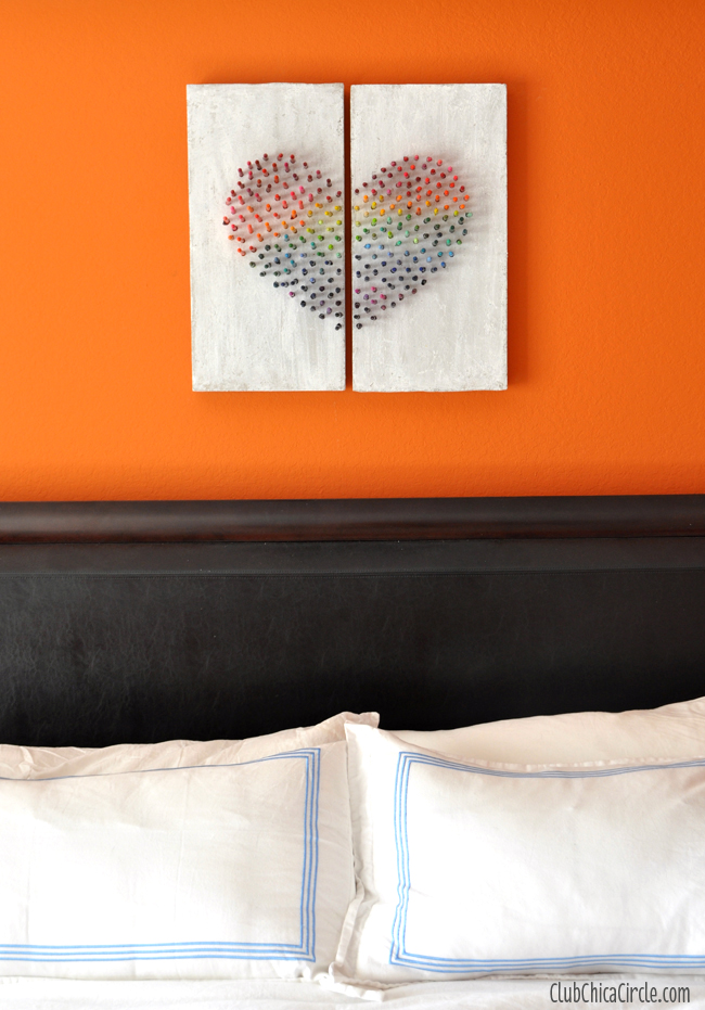 Homemade Modern Art Bedroom Wall Hanging