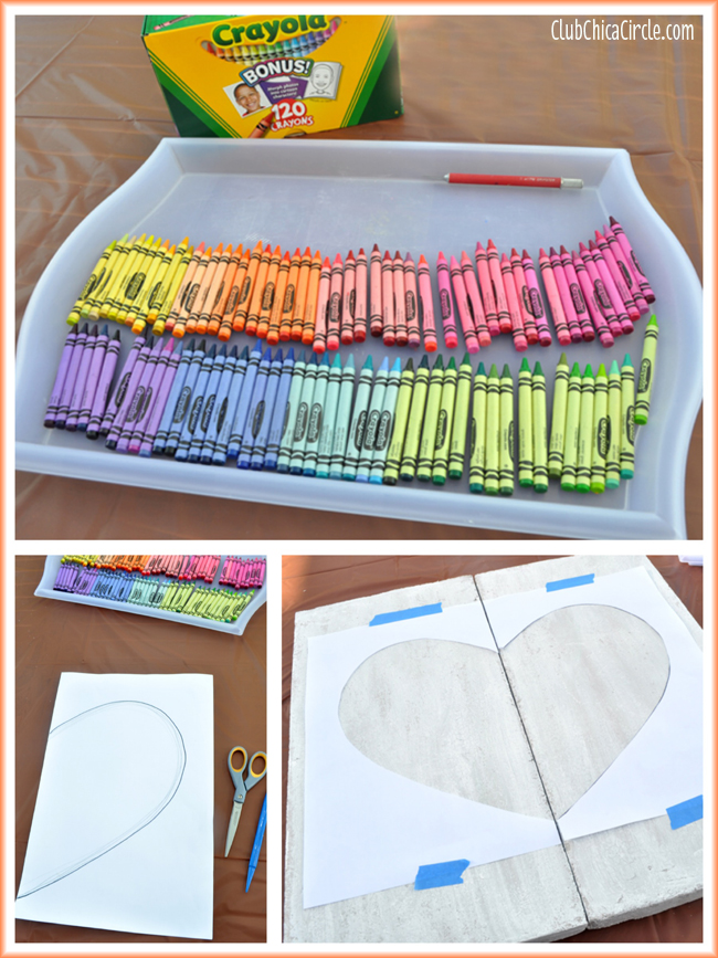 How to Make Cool Rainbow Crayon Wall Art #MakeItFunCrafts