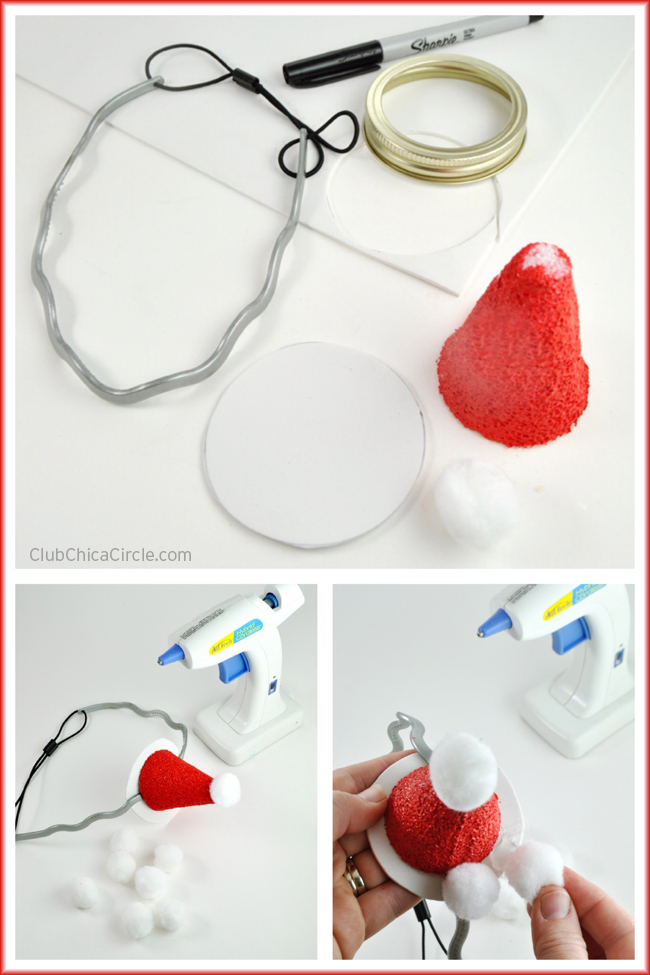 How to Make Cute Santa and Elf Headbands