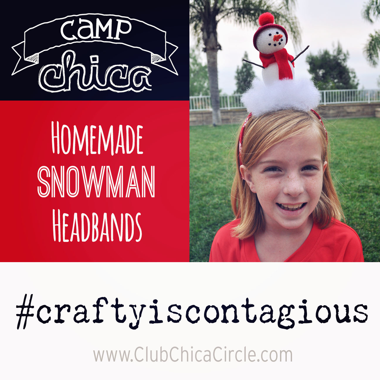 Turn heads with this adorable snowman headband tutorial-  Camp Chica