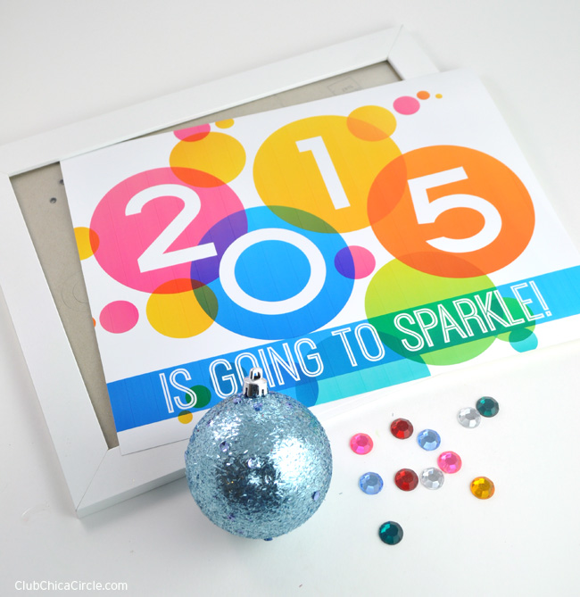 2015 sparkle sign craft idea