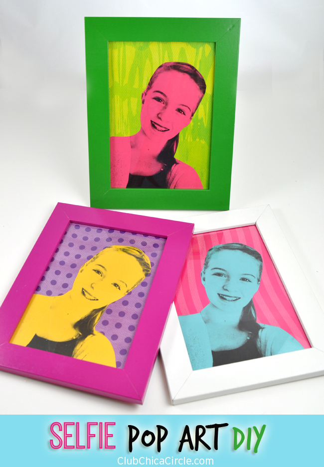 Easy Modern Pop Art Selfie Craft Idea for Kids