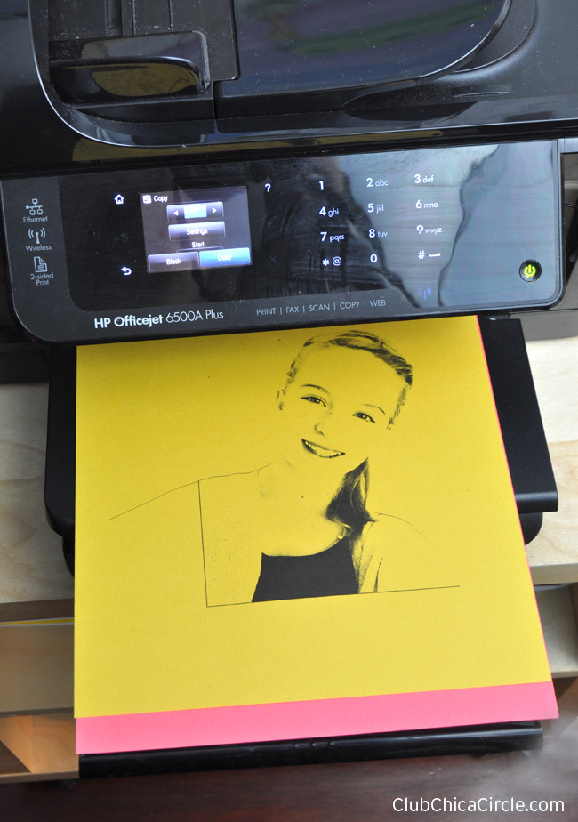 Easy Selfie Pop Art with personal printer and copier