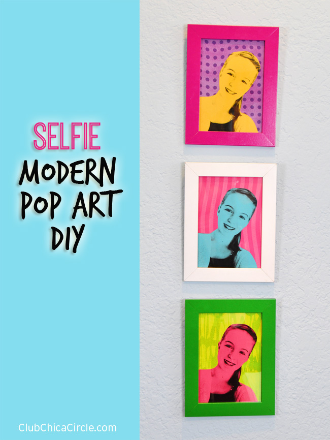 Selfie Portrait Pop Art DIY