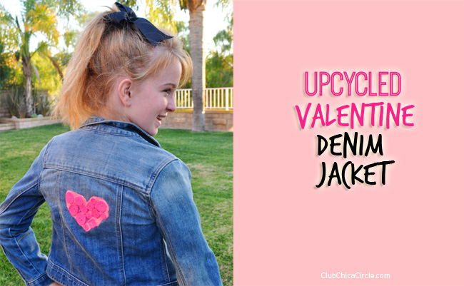 Upcycled Valentine Denim Jacket DIY for tweens