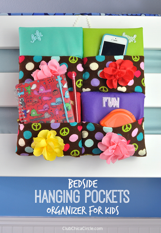 Bedside Hanging Pocket Craft Idea for Kids