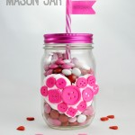 Button Heart Mason Jar Valentine Homemade Gift Idea