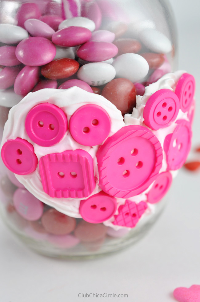 Easy Button Heart Mason Jar Valentine Homemade Gift