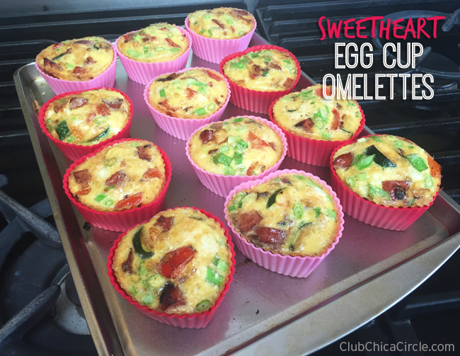 Sweetheart baked egg cup omelettes recipe idea