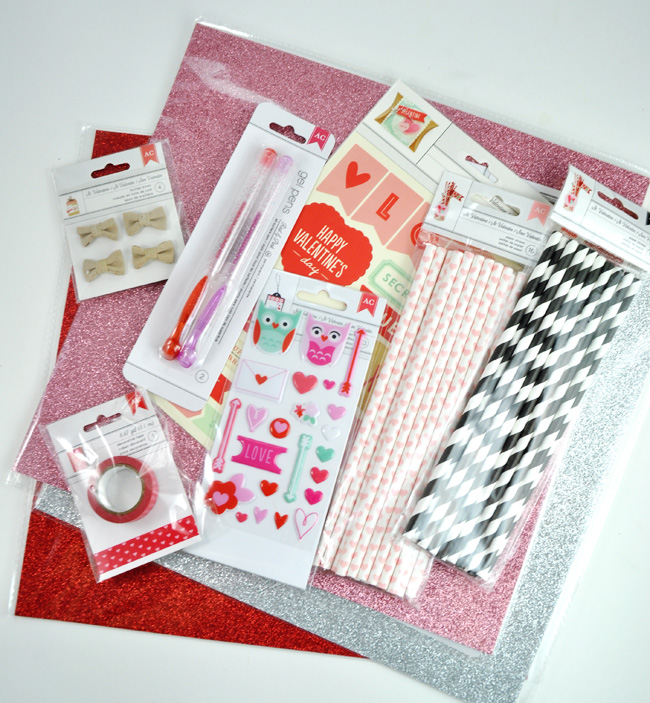 Target Valentine OneSpot American Crafts supplies
