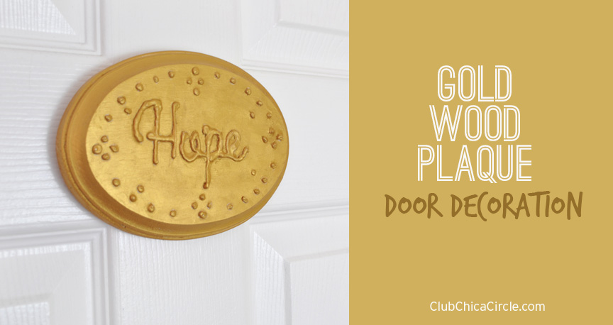 Gold Decorated Hope Sign #easyhomedecor