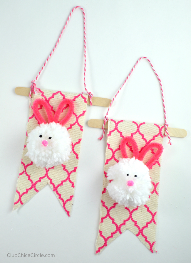 Mini bunny banners craft tutorial