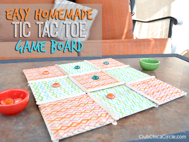 Outdoor homemade game board for kids copy