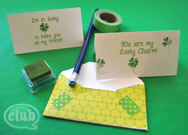 shamrock-stationery-homemade-stamps