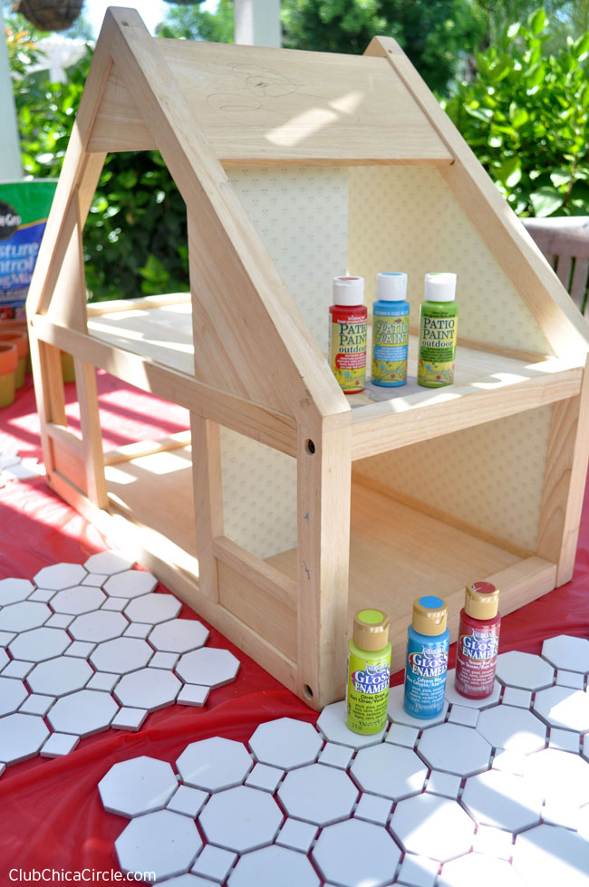 Dollhouse Herb Garden upcycled craft idea