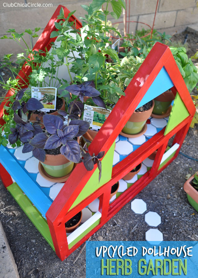 How to Upcycle a Dollhouse into an Herb Garden