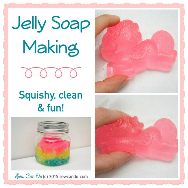 Jelly Soap Making #mondayfundayparty feature