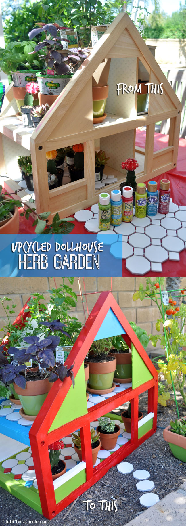 Upcycled Dollhouse Herb Garden DIY