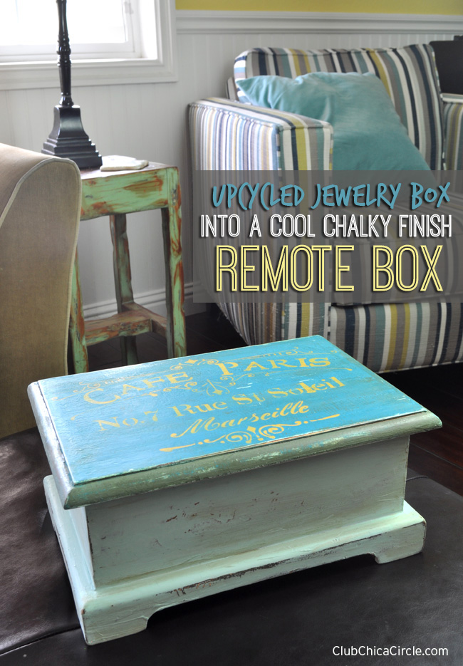 Upcycled Jewelry Box into Cool Remote Box