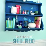 Teen Shelf Upcycle DIY #chalkyfinish