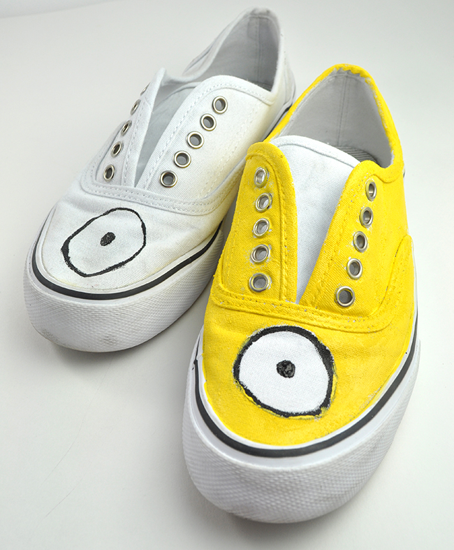 Minion Shoes step 2