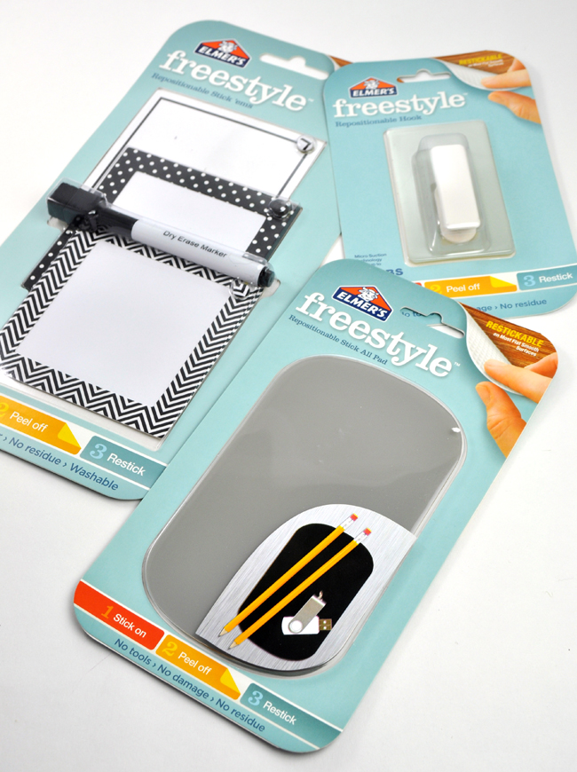 Restickable pads for easy home organization
