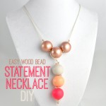 Easy Wood Bead Statement Necklace DIY