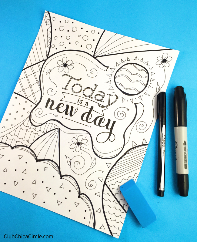 free printable coloring page for adults and diy - Make Coloring Pages